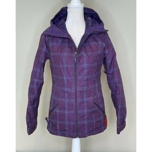 BURTON Plaid Full Zip Hooded Ski Jacket Coat XS